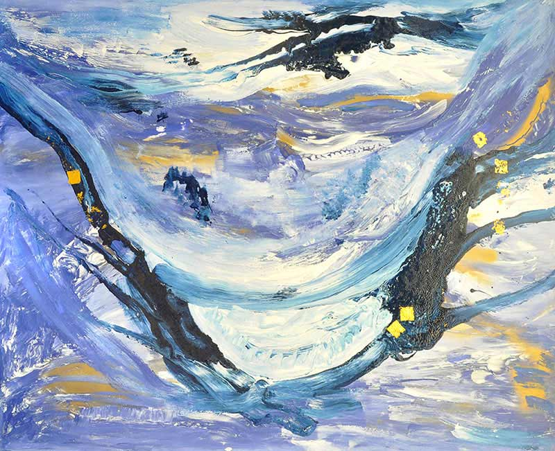 2013-bleu-130x160-acrylique-feuilles-d-or-chantal-derderian-christol