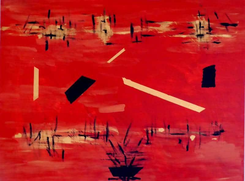 peinture acrylique sur châssis toilé : 97 cm x 130 cm