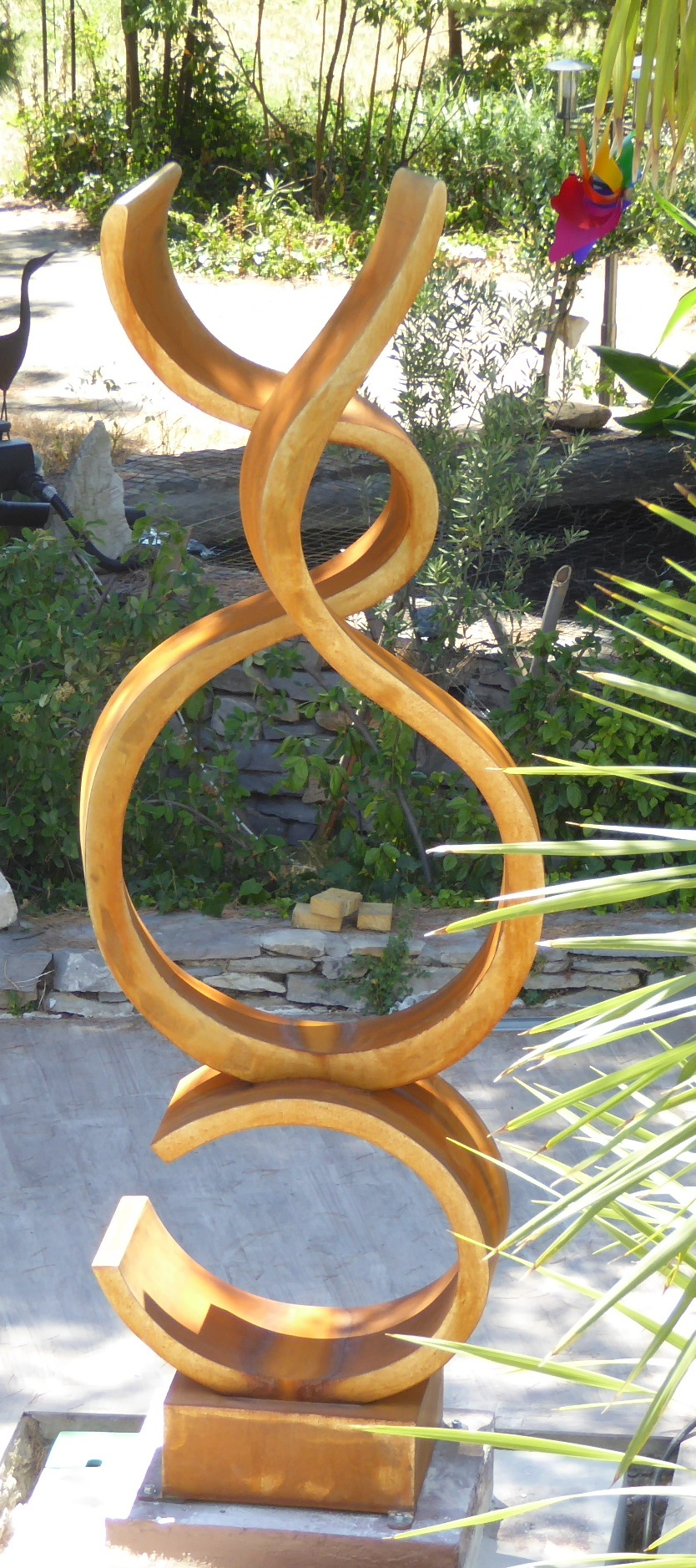 sculpture monumentale en acier corten chantal derderian christol. Black Bedroom Furniture Sets. Home Design Ideas